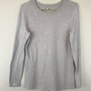 Talbots Woven Pattern Pullover Sweater, M